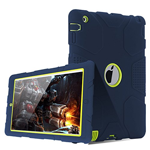 TOPSKY iPad 4 Case,iPad 2 Case,iPad 3 Case,  Shock-Absorptio