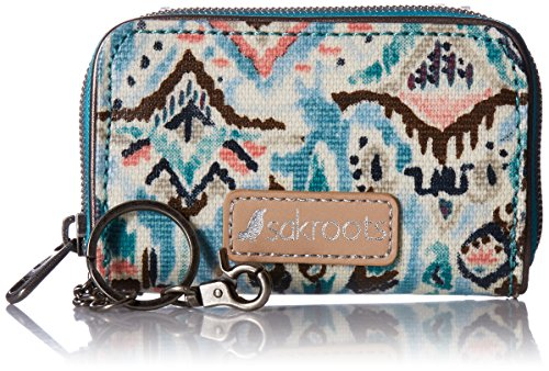 Artist Circle Zip Id Case Wallet, TURQ BRAVE BEAUTI, One (Zip Id Case)