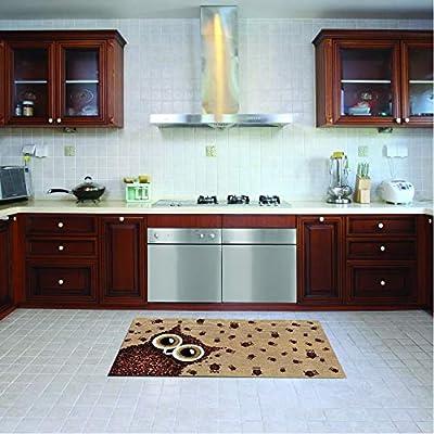 Alfombra de cocina, lavable en lavadora, alfombra cocina,52cm x ...