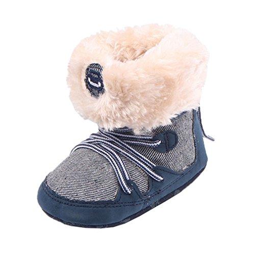 Smile YKK Winter Warme Baby Schuhe krippeschuhe krabbelschuhe Lauflernschuhe 11 Rot Dunkelblau