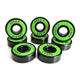 8x22x7mm BK-GR ABEC 7 Precision Skate Ball Bearings Rubber Seals (8)