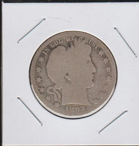 1893 Barber or Liberty Head (1892-1915) Half Dollar About Good
