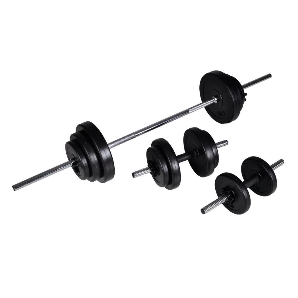 Festnight Barbell 2 Dumbbell Weights Set Home Gym Weight Lifting Strength Training Fitness 30.5kg