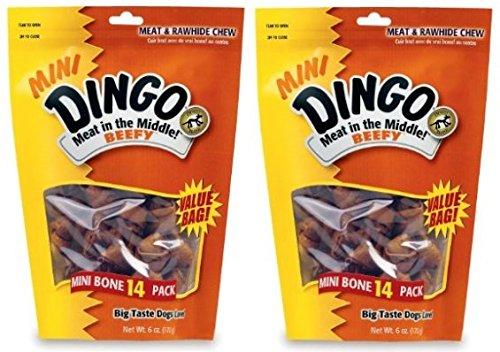 Dingo Beef - Dingo Mini Beefy Rawhide Bones (2 Pack)