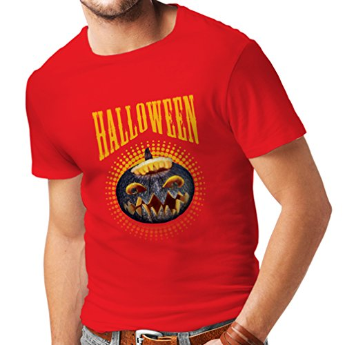 Clever Halloween Costumes For Two People (T shirts for men Halloween pumpkin - clever costume ideas 2017 (Small Red Multi Color))