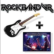 Rock Band VR Game + Guitar Controller (PlayStation 4 Version) Bundle for Oculus Rift
