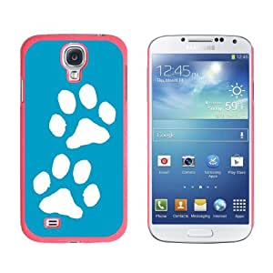 Paw Prints Blue - Snap On Hard Protective Case for Samsung Galaxy S4 - Pink by ruishername