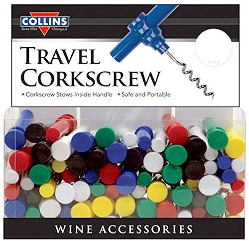 2-Piece Travel Corkscrew (White)