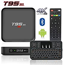 2017 Model BPSMedia Android 6.0 Bluetooth TV Box, Amlogic S905 64 Bits Quad Core and Supporting 4K (60Hz) Full HD /H.265 /WiFi 2.4GHz /T95M /2GB-8GB