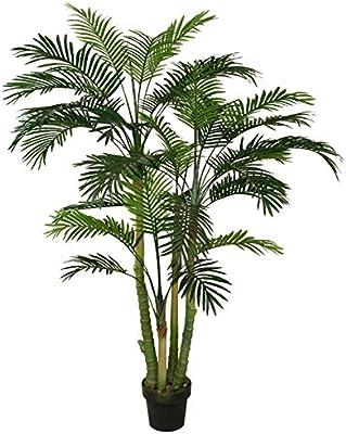 Best Artificial - Palmera paradisíaca, 150 cm, árbol tropical, planta de jardín planta artificial de 150 cm para oficina, terraza, jardín, interior o exterior: Amazon.es: Jardín