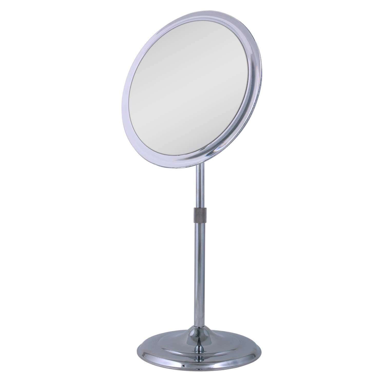 Amazon.com : Zadro Single Sided Pedestal Vanity Mirror, Chrome ...