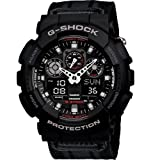 G-Shock GA-100MC-1ACR Nylon Strap Classic Series Men's Quality Watch – Black / One Size, Watch Central