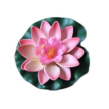 Westeng K/ünstliche Blumen Schwimmend Lotusbl/üte Wasserpflanzen Seerose Deko Hohe Simulation Nymphaea fisch tank aquarium simulation Seerose