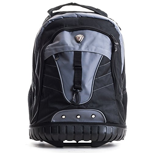 CALPAK Night Vision 18-Inch Rolling Backpack, (Calpak Rolling Backpacks)