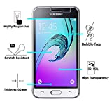 [2 Pack] iVoler [Tempered Glass] Screen Protector for Samsung Galaxy Luna / Express 3 / Galaxy J1 2016 / Galaxy Amp 2, [0.2mm Ultra Thin 9H Hardness 2.5D Round Edge] with