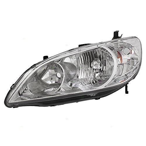 Drivers Headlight Headlamp Replacement for Honda 33151-S5A-A51 AutoAndArt