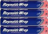Reynolds Wrap Standard Aluminum Foil, 75 Square Feet - 4 Pack