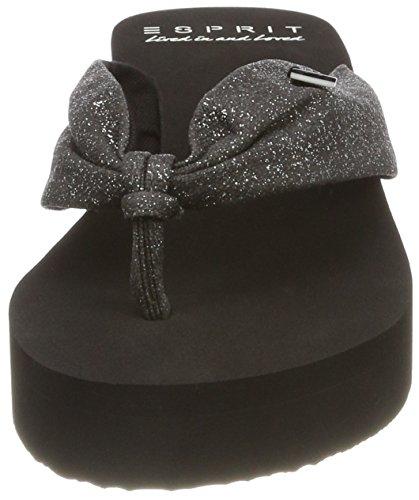 Esprit black Nero Ciabatte Glitter Ilary Donna 4znxw0qPC