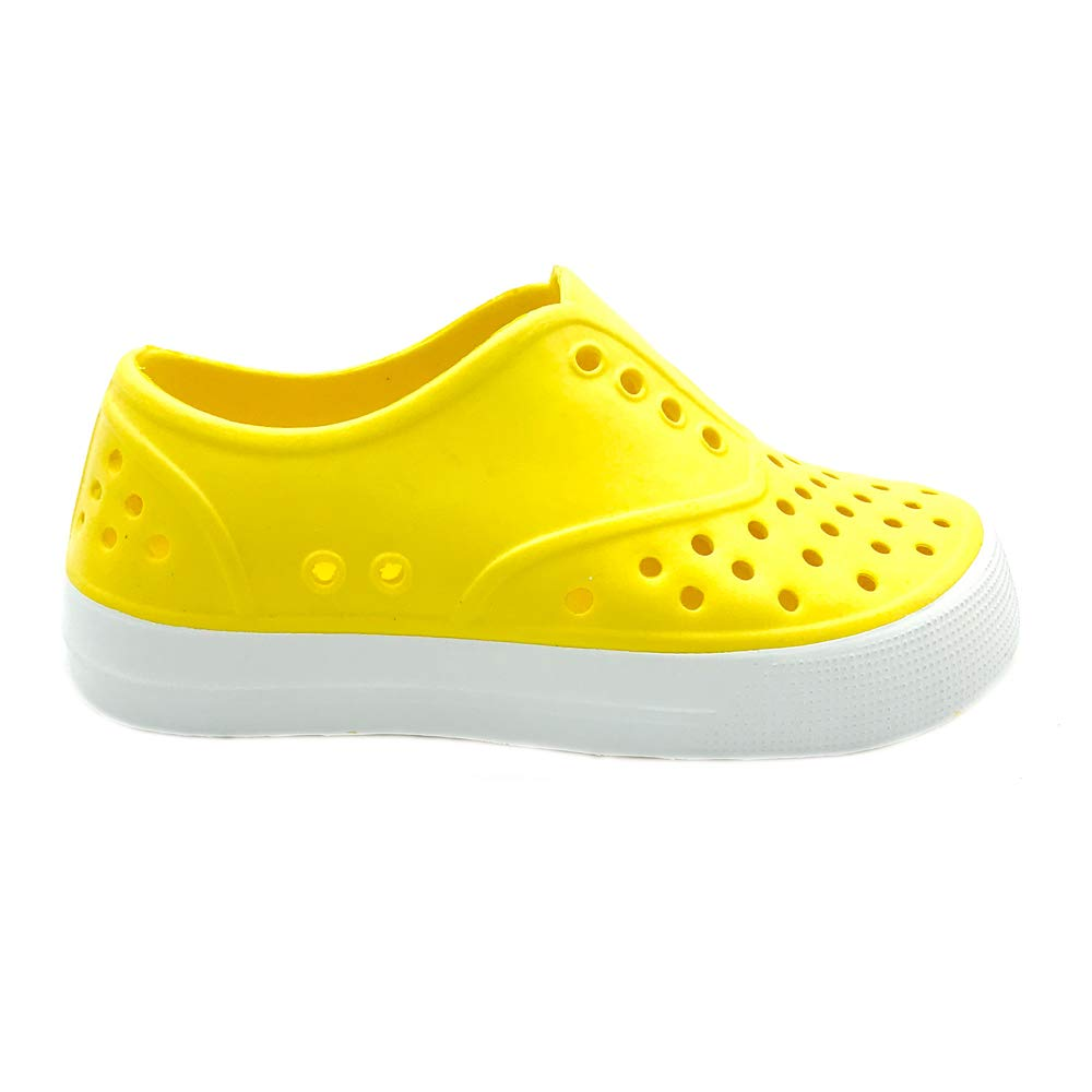 EVA Upper Material and Odor Resistant Footbed with Arch Support Boys /& Girls Waterproof Breathable Slip On Sneaker Flexible and Lightweight Synthetic Shoe PEBBLES SHOES Kids /& Toddler