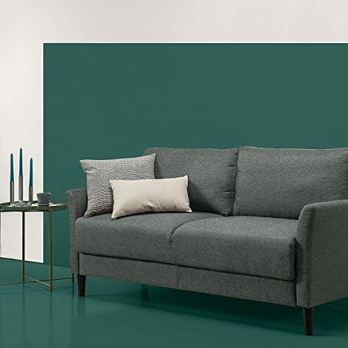 chollos oferta descuentos barato Zinus Jackie Sofá Tapizado de estilo clásico Gris verdoso de 180x79x87 9 cm