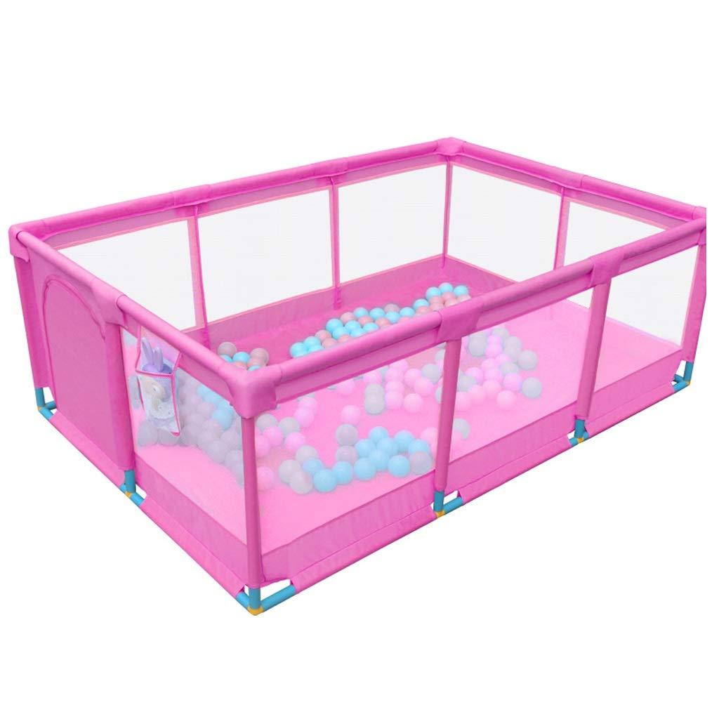 JSSFQK 子供のフェンス屋内の家庭の赤ちゃんゲームガードレールの赤ちゃんの安全な幼児のクロールマットのフェンス 保護フェンス (色 : Pink)  Pink B07MGFZXS9