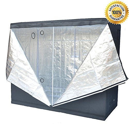 Grow Tent Indoor 8x4 Feet Not Include LED - Large Reflective Mylar Hydroponic/Hydro Waterproof Seedling Plant Growing Room for Grow Tents, Black 96''x48''x78'' by Smart