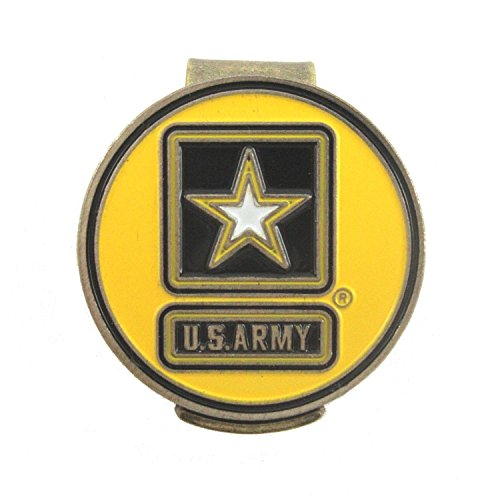 U.S. Army Hat Clip with Double-Sided USA Golf Ball Marker