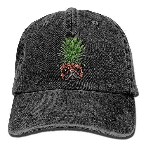 Cowboy Cap for Men Sport Denim Cowgirl Hat DEFFWB Skull Pineapple Women Hats Pug nqXxWY4Hw