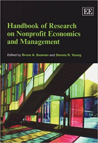 Handbook Of Research On Nonprofit Economics And Management Elgar Original Reference