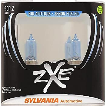 SYLVANIA - 9012 (HIR2) SilverStar zXe High Performance Halogen Headlight Bulb - Bright White Light Output, HID Attitude, Xenon Fueled Technology (Contains 2 ...
