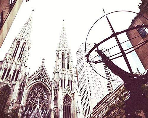 New York City Photography St. Patricks Cathedral Architectural photo 8x10 inch - Patrick St Cathedral