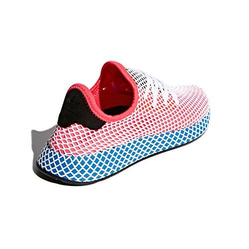 Adidas Deerupt Runner. Schoenen Vrouwen. Sneaker Moda 2018 Zonne-rood / Zonne-rood / Blauwe Vogel