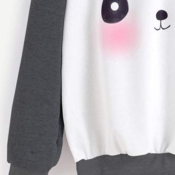 Amazon.com : Lavenderport Sweatshirt Panda Cartoon Print Women Kawaii Pullover : Sports & Outdoors