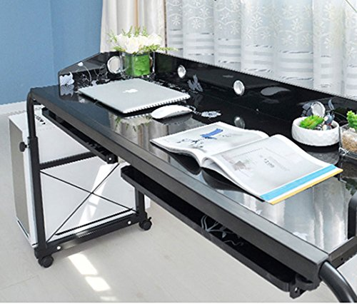 BestValue Go Mobile Overbed Table 55''Laptop Table Cart by BestValue Go (Image #4)