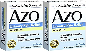 AZO Standard Urinary Pain Relief Tablets, 30 Count (30 Pack of 2)