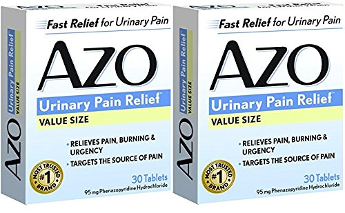 Ingredients Azo Standard - AZO Standard Urinary Pain Relief Tablets, 30 Count (30 Pack of 2)