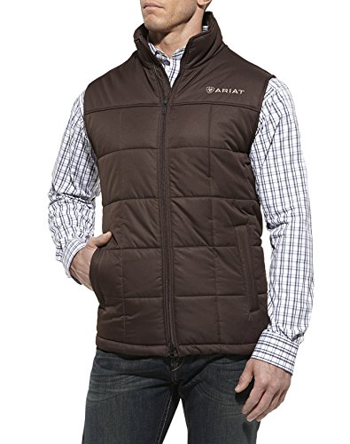 Ariat Men's Crius Vest, Brown, APP XL Reg (Reg Sportswear)