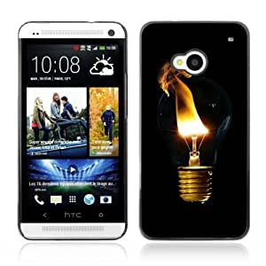 YOYOSHOP [Cool Light Bulb Smoke] HTC One M7 Case