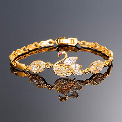 SOVSEFD Women Bracelets 18K Gold Plated Birthstone Crystal Elegant Multi-Gemstone and Diamond Cubic Zirconia Tennis Bracelet for Women Girls Ladies (Style #1)