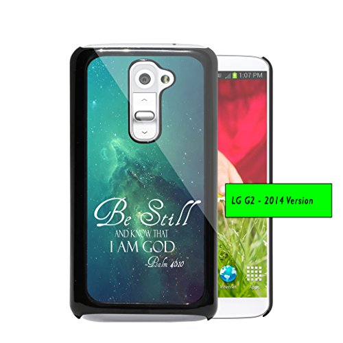 Be Still and Know that I am God Psalm 46:10 Bible Verse Teal Blue Green Nebula Galaxy Wallpaper (1st Generation) LG G2 Hard Plastic Phone Case - NOT COMPATIBLE WITH VERIZON CARRIER (Best Wallpapers For Lg G2)