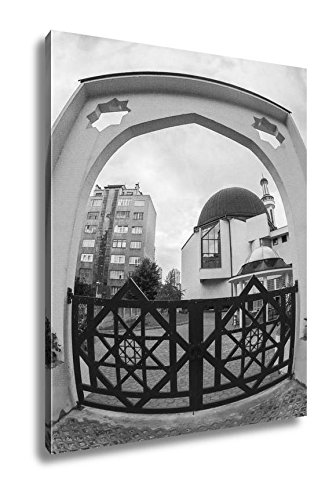 Ashley Canvas Modern Islamic Architecture Mosque, Wall Art Home Decor, Ready to Hang, Black/White, 20x16, AG5573767 by Ashley Canvas