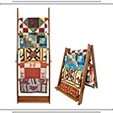 The LadderRack 2-in-1 Quilt Display Rack (5 Rung/24'' Model/American English)