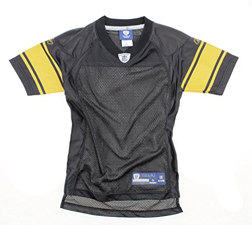 (Pittsburgh Steelers NFL Youth Big Boys Blank Replica Jersey - Black (XL (18/20)))