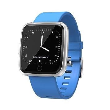 Reloj Inteligente Android,Miya Pulsera Reloj Deportivo Inteligente con Monitor de sueño Impermeable IP67,Pulsómetro,Notificación de Mensajes, ...