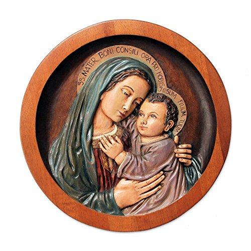 NOVICA 223847 Mary Cedar Relief Panel