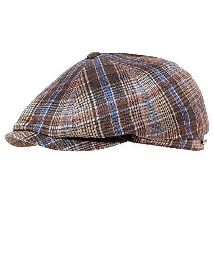 Stetson Men's Linen Check Hatteras Newsboy Cap 59cm ()