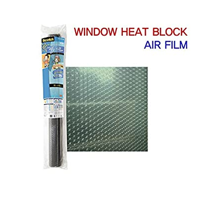 3M Sun Control and Heat Rejection Air Cushion Window Film,(35.4in X 55.1in)