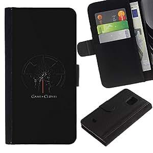 YiPhone /// Tirón de la caja Cartera de cuero con ranuras para tarjetas - Juego de clones - Samsung Galaxy S5 Mini, SM-G800