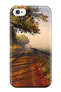 ErekKDC13672AKTMT Faddish Autumn Dirt Road Case Cover For Iphone 4/4s