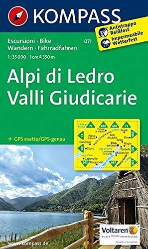 Alpi di Ledro - Valli Giudicarie: Wanderkarte mit Radrouten. GPS-genau. 1:35000 (KOMPASS-Wanderkarten, Band 71)